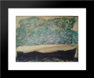 Paysage: Modern Black Framed Art Print by Josef Sima