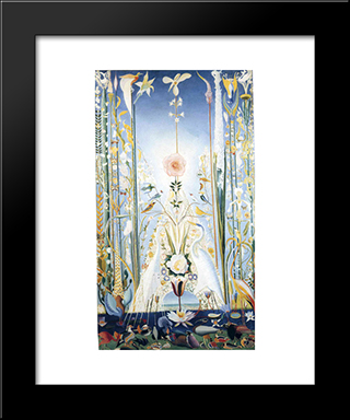 Apotheosis Of The Rose: Modern Black Framed Art Print by Joseph Stella