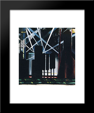 By-Products Plants: Modern Black Framed Art Print by Joseph Stella