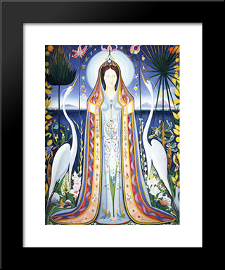 Purissima: Modern Black Framed Art Print by Joseph Stella