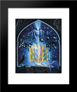 Serenade, A Christmas Fantasy: Modern Black Framed Art Print by Joseph Stella