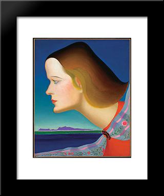 The Amazon: Modern Black Framed Art Print by Joseph Stella