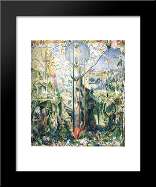Tree Of My Life: Modern Black Framed Art Print by Joseph Stella