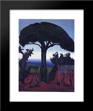 Tree Of Nice: Modern Black Framed Art Print by Joseph Stella