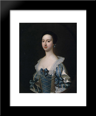 Anne Bateman, Later Mrs. John Gisbourne: Modern Black Framed Art Print by Joseph Wright