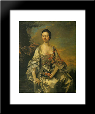Anne Or Molly Cracroft: Modern Black Framed Art Print by Joseph Wright