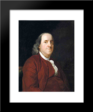 Benjamin Franklin: Modern Black Framed Art Print by Joseph Wright