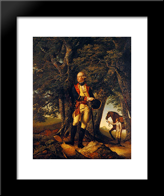 Captain Robert Shore Milnes: Modern Black Framed Art Print by Joseph Wright