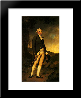 Charles Hurt Of Wirksworth: Modern Black Framed Art Print by Joseph Wright