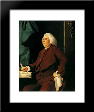 Christopher Heath: Modern Black Framed Art Print by Joseph Wright