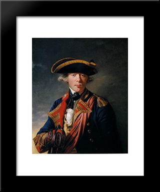 Cornet Sir George Cooke: Modern Black Framed Art Print by Joseph Wright