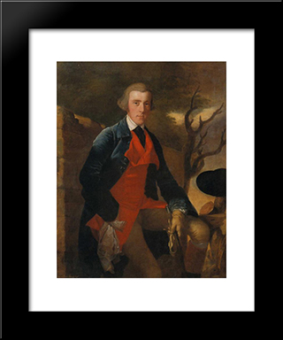 Edward Becher Leacroft: Modern Black Framed Art Print by Joseph Wright