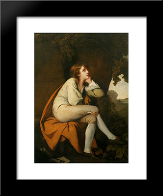 Edwin, From 'Minstrel' By Dr. Beattie: Modern Black Framed Art Print by Joseph Wright