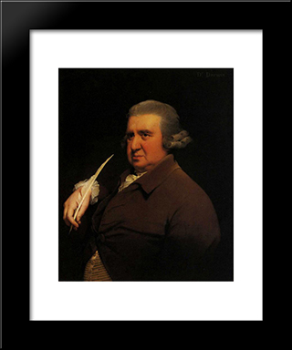 Erasmus Darwin: Modern Black Framed Art Print by Joseph Wright