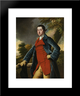 Francis Burdett: Modern Black Framed Art Print by Joseph Wright