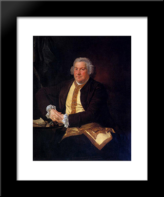 Francis Hurt: Modern Black Framed Art Print by Joseph Wright