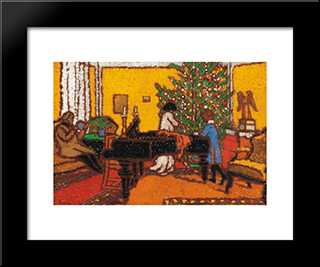 Christmas: Modern Black Framed Art Print by Jozsef Rippl Ronai