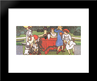 Painting For The Schiffer Villa: Modern Black Framed Art Print by Jozsef Rippl Ronai