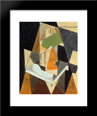 Lamp: Modern Black Framed Art Print by Juan Gris