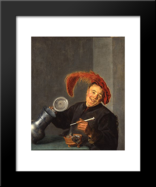 Jolly Toper: Modern Black Framed Art Print by Judith Leyster