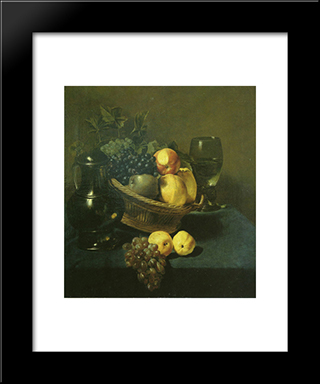 Still Life: Modern Black Framed Art Print by Judith Leyster