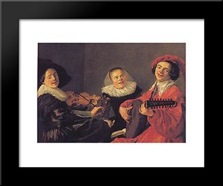 The Concert: Modern Black Framed Art Print by Judith Leyster
