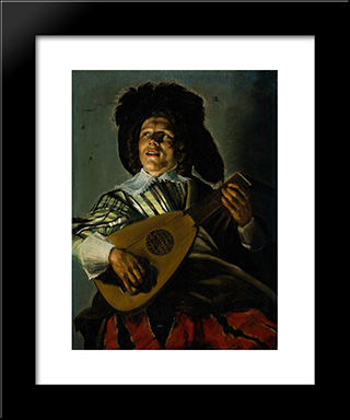 The Serenade: Modern Black Framed Art Print by Judith Leyster