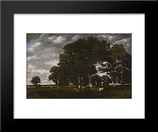 A Bright Day: Modern Black Framed Art Print by Jules Dupre