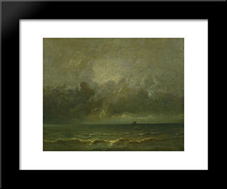 Calm Before The Storm: Modern Black Framed Art Print by Jules Dupre