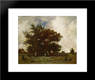 Fontainebleau Oaks: Modern Black Framed Art Print by Jules Dupre