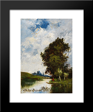 Small Floodplain: Modern Black Framed Art Print by Jules Dupre