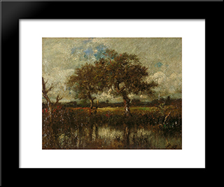 Untitled (Landscape): Modern Black Framed Art Print by Jules Dupre