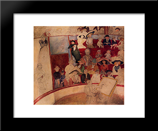 The Circus: Modern Black Framed Art Print by Jules Pascin