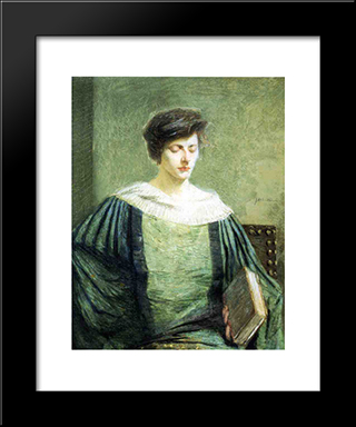 A Follower Of Grolier: Modern Black Framed Art Print by Julian Alden Weir