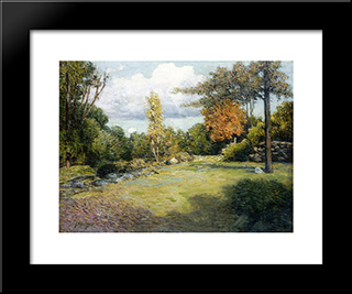 Autumn Days: Modern Black Framed Art Print by Julian Alden Weir