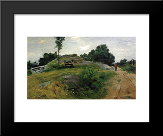 Connecticut Scene: Modern Black Framed Art Print by Julian Alden Weir