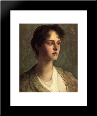Ideal Head: Modern Black Framed Art Print by Julian Alden Weir