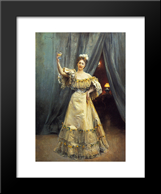A Toast: Modern Black Framed Art Print by Julius LeBlanc Stewart