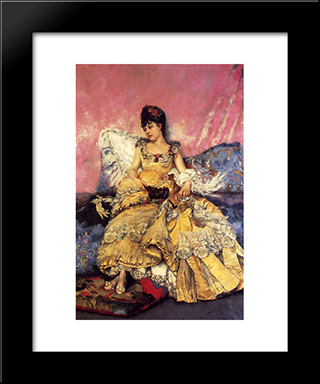 After The Ball: Modern Black Framed Art Print by Julius LeBlanc Stewart