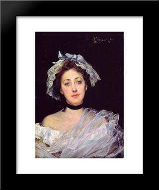 An English Lady: Modern Black Framed Art Print by Julius LeBlanc Stewart