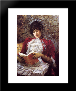 An Enthralling Novel: Modern Black Framed Art Print by Julius LeBlanc Stewart