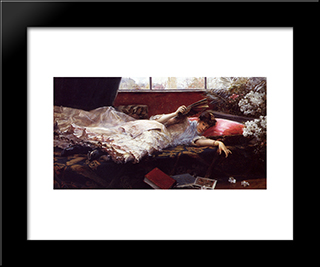 An Idle Afternoon: Modern Black Framed Art Print by Julius LeBlanc Stewart