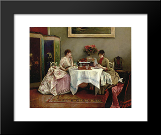 An Interesting Letter: Modern Black Framed Art Print by Julius LeBlanc Stewart