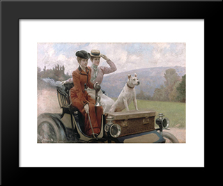 End Of Summertime, The Ride, Form The Cover Of 'Soleil Du Dimanche', Sunday 20Th Of October 1901: Modern Black Framed Art Print by Julius LeBlanc Stewart