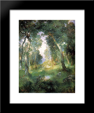 Forest Glade, Santa Barbara: Modern Black Framed Art Print by Julius LeBlanc Stewart