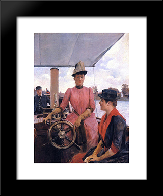 Full Speed: Modern Black Framed Art Print by Julius LeBlanc Stewart