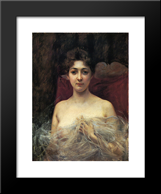 In The Boudoir: Modern Black Framed Art Print by Julius LeBlanc Stewart
