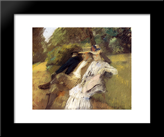 In The Park: Modern Black Framed Art Print by Julius LeBlanc Stewart