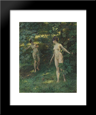 Nymphs Of Nysa: Modern Black Framed Art Print by Julius LeBlanc Stewart