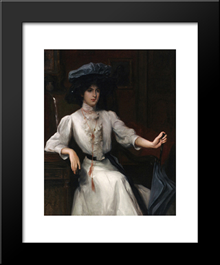 Portrait Of A Woman: Modern Black Framed Art Print by Julius LeBlanc Stewart